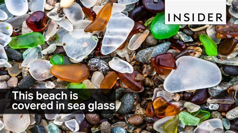 This beach is covered in sea glass instead of sand - YouTube
