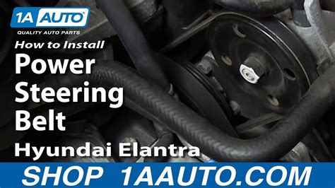 How To Install Replace Power Steering Belt 2001-06 Hyundai
