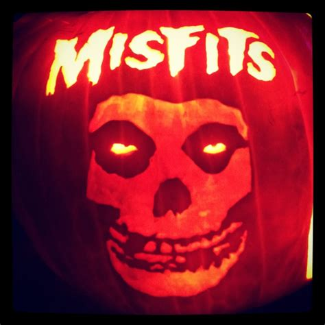 Misfits! Carved on a real pumpkin we grew in our garden
